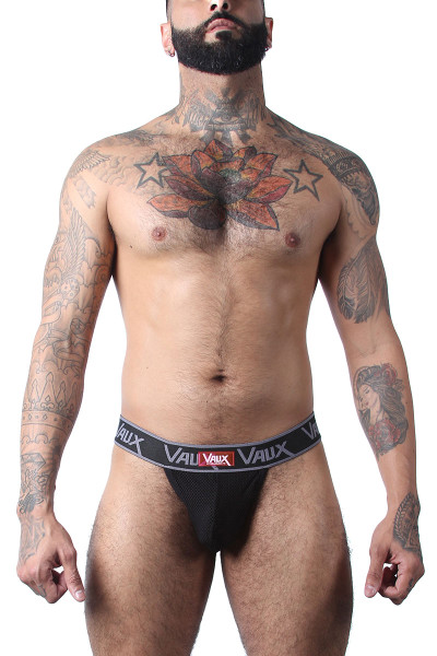 CellBlock 13 VX1 Double Y Thong VXS105-BL Black - Mens Thongs - Front View - Topdrawers Underwear for Men