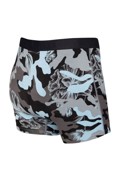 Saxx Vibe Boxer Brief | Blue Camo Flora SXBM35-CFB - Mens Boxer Briefs - Rear View - Topdrawers Underwear for Men