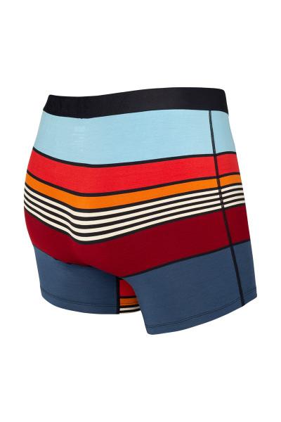 Saxx Vibe Boxer Brief | Navy Super Stripe SXBM35-SUN - Mens Boxer Briefs - Rear View - Topdrawers Underwear for Men