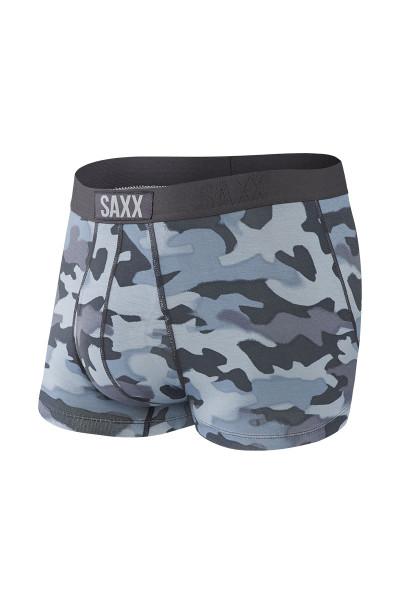 Saxx Ultra Trunk w/ Fly | Graphite Stencil Camo SXTR30F-GSC - Mens Boxer Briefs - Front View - Topdrawers Underwear for Men