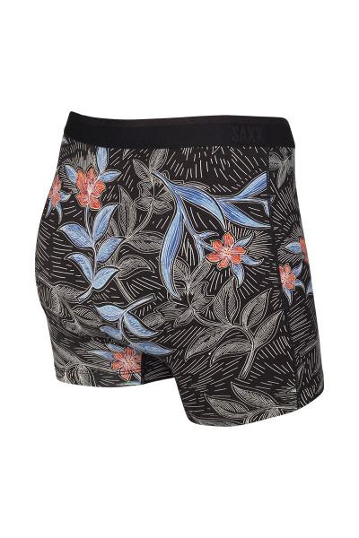 Saxx Platinum Boxer Brief w/ Fly | Black Vine Batik SXBB42F-VNB - Mens Boxer Briefs - Rear View - Topdrawers Underwear for Men