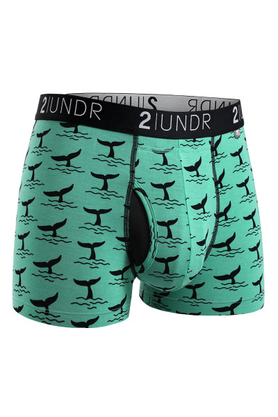 2UNDR Swing Shift Trunk Moby 2U01TR-191 - Mens Boxer Briefs - Front View - Topdrawers Underwear for Men