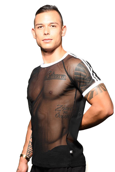 Andrew Christian Performance Net Tee 10308 - Mens T-Shirts - Side View - Topdrawers Clothing for Men