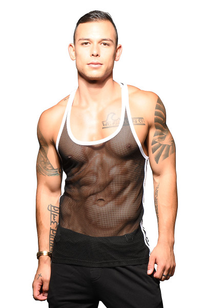 Andrew Christian Performance Net Tank 2799 - Mens Tank Tops - Front View - Topdrawers Clothing for Men