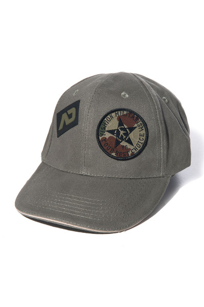 Addicted Army Cap AD687-12 Khaki - Mens Hats - Front View - Topdrawers Clothing for Men