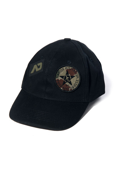 Addicted Army Cap AD687-10 Black - Mens Hats - Front View - Topdrawers Clothing for Men