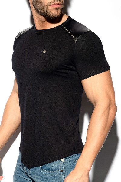 ES Collection Metal Tap T-Shirt TS290-10 Black - Mens T-Shirts - Side View - Topdrawers Clothing for Men