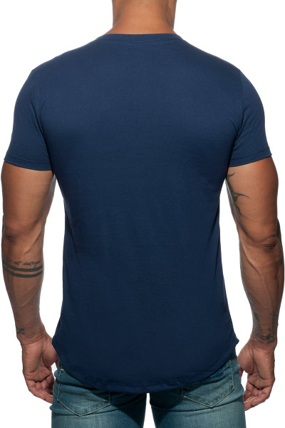 Addicted Basic U-Neck T-Shirt AD696-09 Navy Blue - Mens T-Shirts - Rear View - Topdrawers Clothing for Men