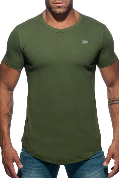 Addicted Basic U-Neck T-Shirt AD696-12 Khaki - Mens T-Shirts - Front View - Topdrawers Clothing for Men