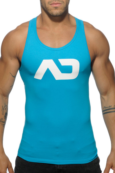 Addicted Basic AD Tank Top AD457-08 Turquoise - Mens Tank Tops - Front View - Topdrawers Clothing for Men