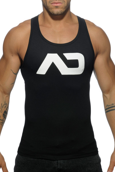 Addicted Basic AD Tank Top AD457-10 Black - Mens Tank Tops - Front View - Topdrawers Clothing for Men