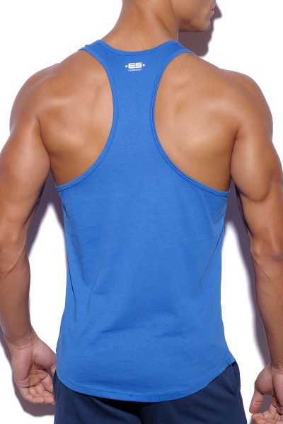 ES Collection Basic Fitness Tank Top TS171-16 Royal Blue - Mens Tank Tops - Rear View - Topdrawers Clothing for Men