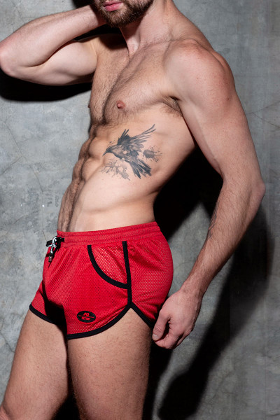Addicted Fetish Short Kangoo Colour Code ADF126-06 Red - Mens Fetish Shorts - Side View - Topdrawers Clothing for Men