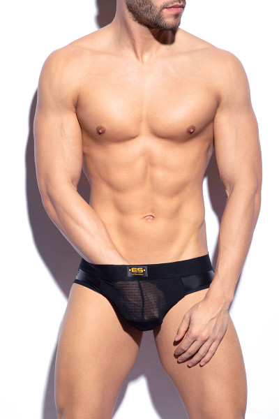 ES Collection Plumetti Jock UN462 - Mens Jockstraps - Front View - Topdrawers Underwear for Men