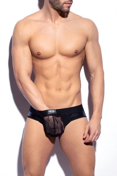 ES Collection Branches Net Jock UN454 - Mens Jockstraps - Front View - Topdrawers Underwear for Men