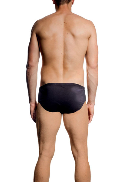 JM BASIX Brief 08149-001 Black  - Mens Briefs - Rear View - Topdrawers Underwear for Men