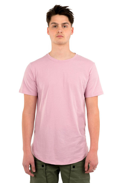 Kuwalla Tee Eazy Scoop Tee KUL-CT1851 Dusty Pink - Mens T-Shirts - Front View - Topdrawers Clothing for Men