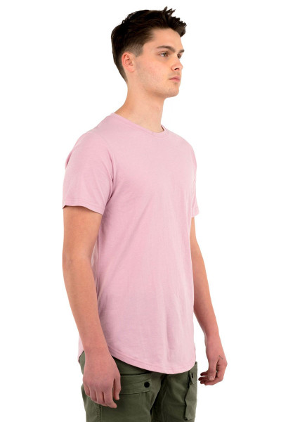Kuwalla Tee Eazy Scoop Tee KUL-CT1851 Dusty Pink - Mens T-Shirts - Side View - Topdrawers Clothing for Men