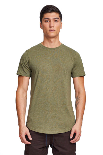 Kuwalla Tee Eazy Scoop Tee KUL-CT1851 Burnt Olive - Mens T-Shirts - Front View - Topdrawers Clothing for Men