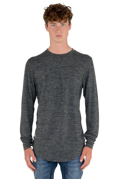 Kuwalla Tee Uppercut Sweater KUL-LST1010 Mixed White - Mens Sweaters - Front View - Topdrawers Clothing for Men