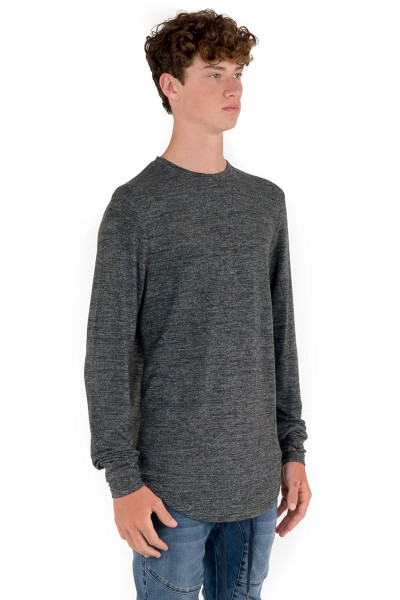 Kuwalla Tee Uppercut Sweater KUL-LST1010 Mixed White - Mens Sweaters - Side View - Topdrawers Clothing for Men