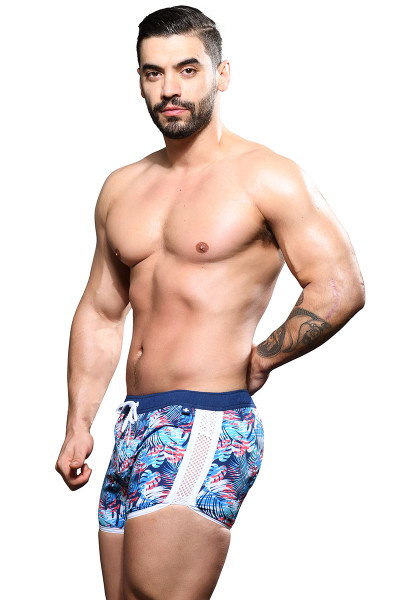 Andrew Christian Palm Colony Swim Shorts 7852 - Mens Swim Shorts - Side View - Topdrawers Swimwear for Men