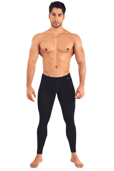Clever Nirvana Long Pant 0159-11 Black - Mens Athletic Tights - Front View - Topdrawers Underwear for Men