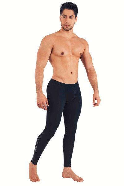 Clever Nirvana Long Pant 0159-11 Black - Mens Athletic Tights - Side View - Topdrawers Underwear for Men