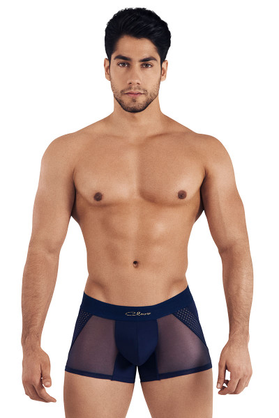 Clever Extravagant Boxer 0306-08 Navy Blue - Mens Boxer Briefs - Front View - Topdrawers Underwear for Men