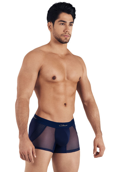Clever Extravagant Boxer 0306-08 Navy Blue - Mens Boxer Briefs - Side View - Topdrawers Underwear for Men