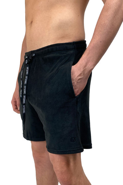 Dirt Squirrel Onyx Black Lounge Short 0316  - Mens Loungewear - Side  View - Topdrawers Clothing for Men
