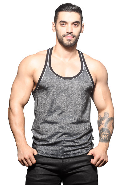 Andrew Christian Sparkle Tank 2816 - Mens Tank Tops - Front View - Topdrawers Clothing for Men