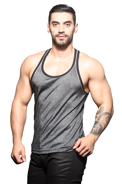 Andrew Christian Sparkle Tank 2816 - Mens Tank Tops - Side View - Topdrawers Clothing for Men