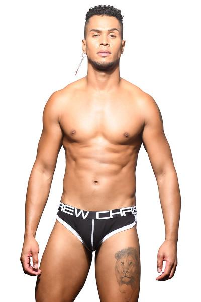 Andrew Christian Show-It Retro Pop Brief 91989-BL Black - Mens Briefs - Front View - Topdrawers Underwear for Men