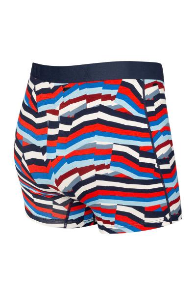 Saxx Ultra Boxer Brief w/ Fly | Navy Post It Stripe SXBB30F-PMN - Mens Boxer Briefs - Rear View - Topdrawers Underwear for Men
