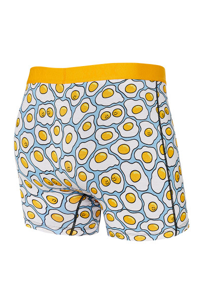Saxx Vibe Boxer Brief | Yellow TGI-Fried Egg SXBM35-YTF - Mens Boxer Briefs - Rear View - Topdrawers Underwear for Men