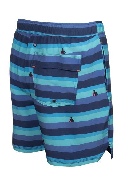 "Saxx Oh Buoy 2N1 Swim Short 7"" | Blue Dawn Patrol SXSW04L-DPB - Mens Swim Shorts - Rear View - Topdrawers Swimwear for Men"