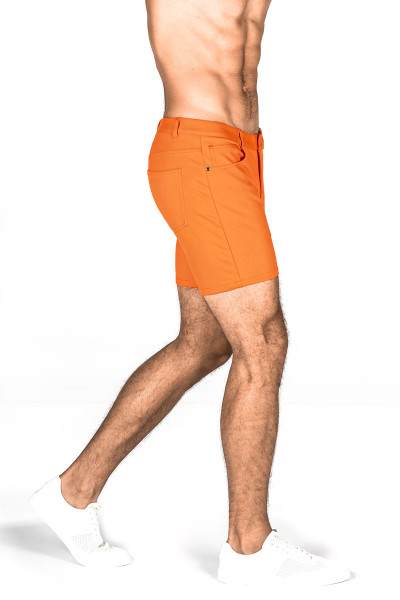 ST33LE Stretch Knit Jeans Shorts | Carrot 1932-CAR - Mens Shorts - Rear View - Topdrawers Clothing for Men