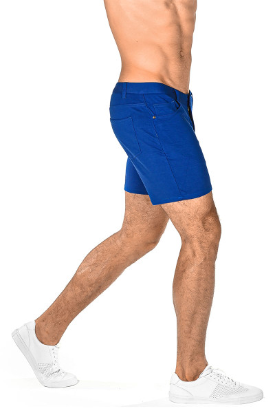 ST33LE Stretch Knit Jeans Shorts | Azure 1932-AZUR - Mens Shorts - Rear View - Topdrawers Clothing for Men