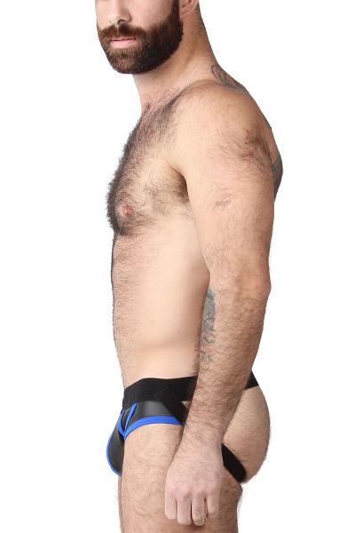 CellBlock 13 Night Hawk Jockstrap CBU262-BU Blue - Mens Jockstraps - Side View - Topdrawers Underwear for Men