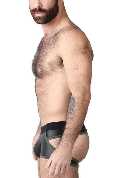 CellBlock 13 Night Hawk Jock Trunk CBU263-GN Green - Mens Jock Boxers - Side View - Topdrawers Underwear for Men