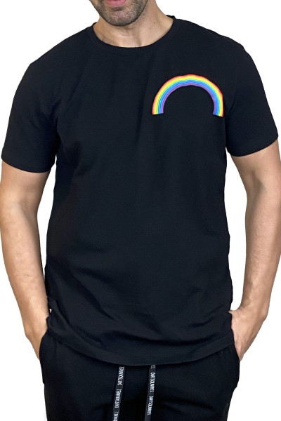 Dirt Squirrel Rainbow Puff Tee S/S 0300 - Mens T-Shirts - Front View - Topdrawers Clothing for Men
