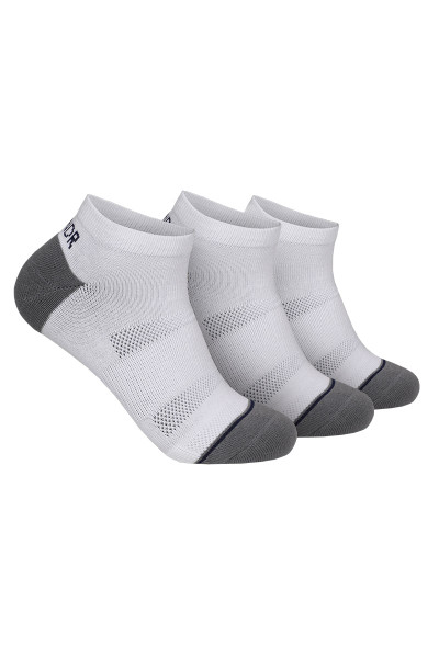 2UNDR 3-Pack Groove Ankle Sock | White 2U73AS-WHT - Mens Socks - Front View - Topdrawers Underwear for Men