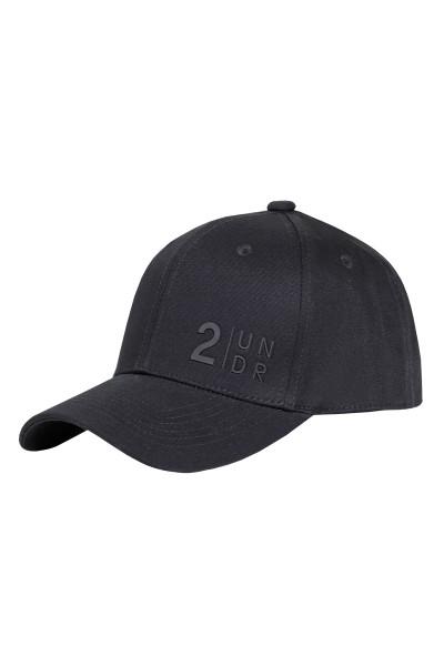 2UNDR Snap Back Solid Hat   Black 2U07FS-BLK - Mens Caps - Front View - Topdrawers Clothing for Men