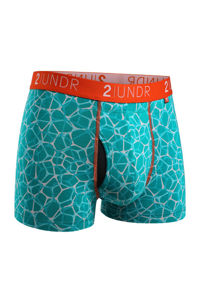 2UNDR Swing Shift Trunk | Pool Party 2U01TR-213 - Mens Boxer Briefs - Front View - Topdrawers Underwear for Men