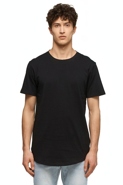 Kuwalla Tee Eazy Scoop Tee KUL-CT1851-BLK Black - Mens T-Shirts - Front View - Topdrawers Clothing for Men
