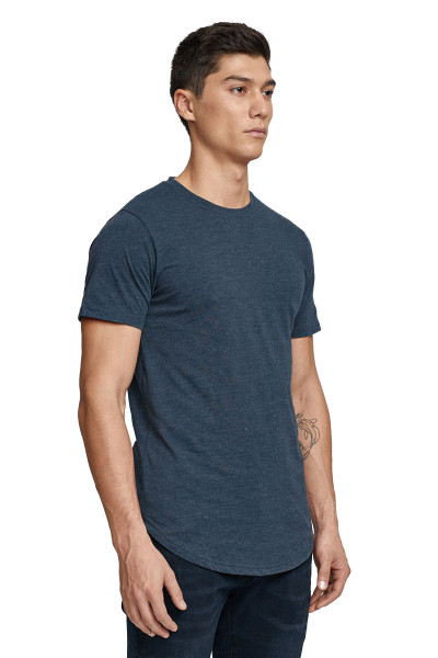 Kuwalla Tee Eazy Scoop Tee KUL-CT1851-NVY Navy Blue - Mens T-Shirts - Side View - Topdrawers Clothing for Men