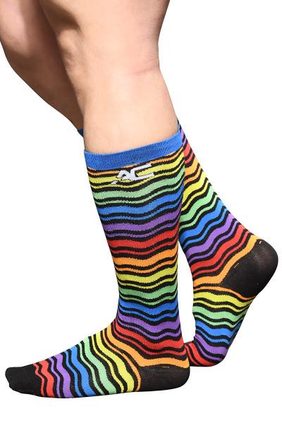 Andrew Christian Ultra Pride Socks 8576 - Mens Socks - Side View - Topdrawers Clothing for Men