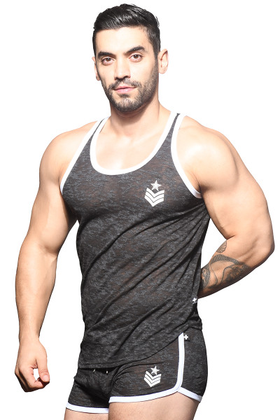 Andrew Christian Burnout Sergeant Tank 2820 - Mens Tank Tops - Side View - Topdrawers Clothing for Men