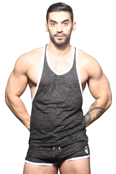 Andrew Christian Vibe Burnout Sports & Gym Tank 2821 - Mens Tank Tops - Front View - Topdrawers Clothing for Men